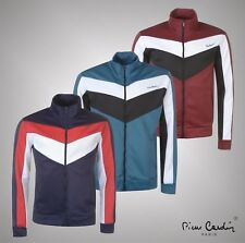 New Mens Designer Pierre Cardin Sporty Panelled Full Zipped Track Top Size S-XXL