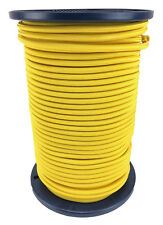 8mm YELLOW - ELASTIC BUNGEE ROPE SHOCK CORD TIE DOWN SURVIVAL ARMY MILITARY