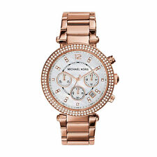 NEW MICHAEL KORS MK5491 LADIES ROSE GOLD PARKER CHRONOGRAPH WATCH
