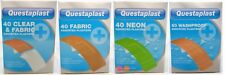 Questaplast Assorted Plasters 40 or 50 Fabric Clear Washproof Neon Plasters