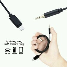 Lightning to 3.5mm Male Jack AUX Audio Music Adapter Cable for iPhone 7 Plus-AUX