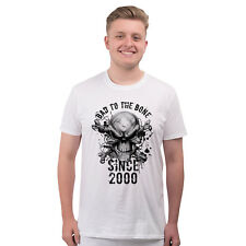 Mens Birthday T Shirt GIFT BOXED Bad To The Bone 2000 18th Present Gift Funny