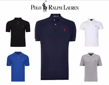 Ralph Lauren Custom Fit Polo Shirts White Navy Grey Black Blue RRP £75