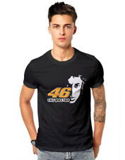 Valentino Rossi Rider VR46 road racer Biker   Casual T-shirt 180 GSM T-shirts