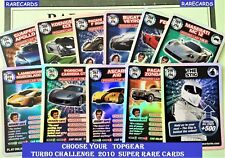 Choose Your TOP GEAR Turbo Challenge SUPER RARE CARDS From: 255 to 276