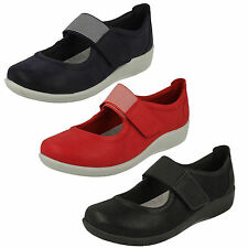 Femmes Clarks cloudsteppers riptape plat coupe large BABIES CHAUSSURES SILLIAN