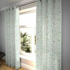 McAlister Textiles Little Leaf Floral Duck Egg Blue Curtains
