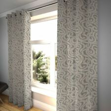 McAlister Textiles Little Leaf Floral Charcoal Grey Curtains
