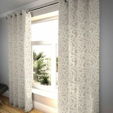 McAlister Textiles Little Leaf Floral Stone Grey Curtains