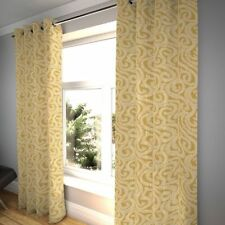 McAlister Textiles Little Leaf Floral Ochre Yellow Curtains