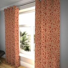 McAlister Textiles Little Leaf Floral Burnt Orange Curtains