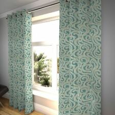 McAlister Textiles Little Leaf Floral Teal Curtains