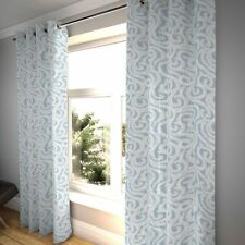 McAlister Textiles Little Leaf Floral Wedgewood Blue Curtains