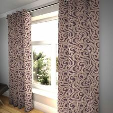 McAlister Textiles Little Leaf Floral Aubergine Purple Curtains