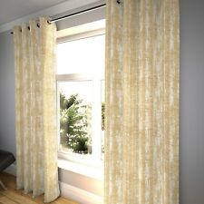 McAlister Textiles Distressed Textured Cream Beige Chenille Curtains