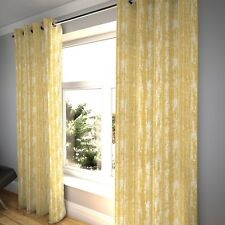 McAlister Textiles Distressed Textured Mimosa Yellow Chenille Curtains