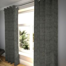 McAlister Textiles Distressed Textured Pewter Silver Chenille Curtains