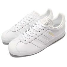 adidas Originals Gazelle White Gold Leather Men Classic Shoes Sneakers BB5498