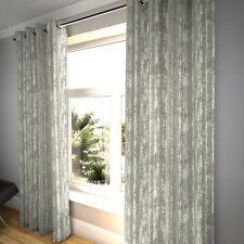 McAlister Textiles Distressed Textured Grey Chenille Curtains