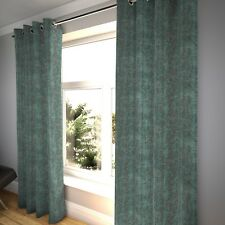 McAlister Textiles Distressed Textured Teal Chenille Curtains