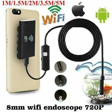 HD Waterproof WiFi Endoscope Inspection Camera w/ 6 LEDs Light For iPhone 8 Plus