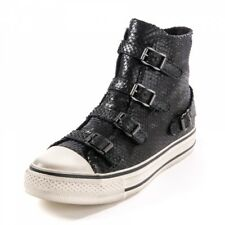 ASH VIRGIN BUCKLE TRAINERS MINI SCALED BLACK LEATHER 37,38,39,40,41 £155