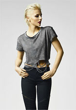 Ladies Cutted Cropped Tee Urban Classics Streetwear Shirts Donna