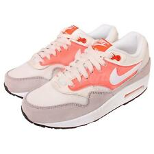 Wmns Nike Air Max 1 Essential White Pink Womens Retro Running Shoes 599820-025