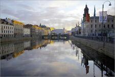 Poster / Leinwandbild Town Hall and Canal at sunset, Gothenburg, ... - F. Fell