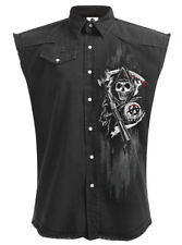 Spiral Soa Reaper Skulls, Sons Of Anarchy Stone Washed Worker|Reaper|Fashion