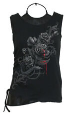 Spiral Fatal Attraction, 2In1 Pu Leather Vest|Roses|Blood|Snake|Tribal