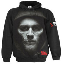 Spiral Jax Skull, Sons Of Anarchy Hoody Black|Sons Of Anarchy|Skull|Gun|Horror