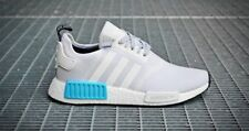 Adidas Nmd R1 Nomade s80207 Bianco / CIANO NUOVO in scatola taglie UK 6 & 6.5