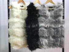 Women Ladies  Gilet Outwear Faux Fur Waistcoat Jacket Coat one size