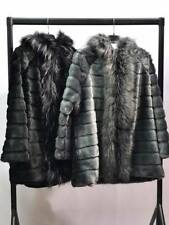 Women Ladies Gilet Outwear Hoodi Faux Fur Jacket Coat Long sleeves one size