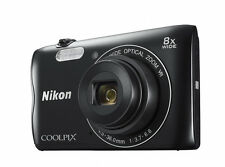 "NIKON COOLPIX A300 20.1MP Compact Camera Black with Bluetooth & 2.7"" Display"