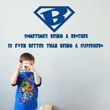 Being A Brother Quotes Vinyl Wall Stickers Decals Home Decor For Boy Child Room