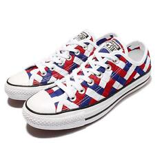 Converse Chuck Taylor All Star White Blue Red Woven Men Casual Shoes 151241C