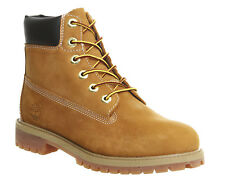 Kids Timberland Juniors 6 Inch Premium Waterproof Boots WHEAT NUBUCK Kids *Ex Di