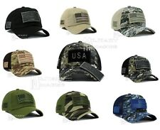 USA Flag Baseball CAP American Hat Detachable Patch Military Adjustable Strap