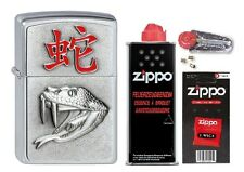 2002453 Zippo Feuerzeug Year of the Snake + Basic Pack - pers. Gravur möglich