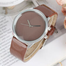 Elegant Candy Color Woman Student Fashion Quartz Wrist Watch PU Leather Bangle