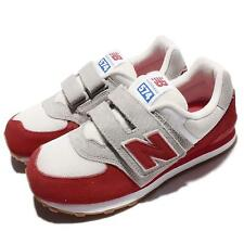 New Balance KV574RUY W Wide Red Grey Kids Boys Girls Running Shoes KV574RUYW