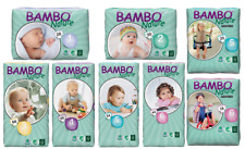 Choose From Bambo Nature Disposable Eco Nappies, Sizes 1-6