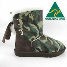 36908 Mubo UGG Women's Boots GREEN Camouflage Colour