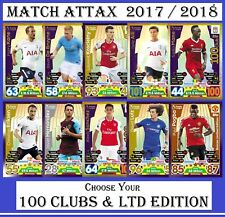 Choose Your MATCH ATTAX 2017 2018 Topps 17/18 LIMITED EDITION & 100 CLUB Cards