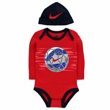 Nike Romper & Hat 2 Piece Gift Set Baby Boys Red Size 3-6 6-9 9-12 Months New