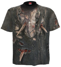 Spiral Zombie Wrap, Allover T-Shirt Black|Zombie|UnDead|Horror|Blood