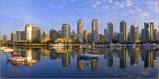 Panorama Holzbild / Holzdruck Vancouver bei Sonnenaufgang - Chuck Haney