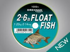 Drennan Float Fish Line New All Breaking Strains Available - 100m FREE P+P